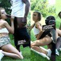 Skinny White Girl Meets a Big Black Cock